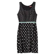 @Target black and white contrasting polka dot dress. http://zodiacfashion.blogspot.com