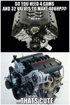 Corvette Engine. Nothin like a good ol' push rod ICE