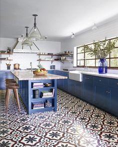 Modern Kitchen Floor Tile Pattern Ideas Our 5 Favorite Cement Kitchen Tile Designs Granada Modern Floor pertaining to [keyword Kitchen Tiles, Kitchen Flooring, New Kitchen, Kitchen Dining, Design Kitchen, Kitchen Interior, Tile Flooring, Cheap Kitchen, Awesome Kitchen