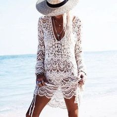 Sexy Lace Hollow Long Sleeve Dress