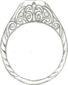 Mark Schneider Design - custom art deco engagement ring