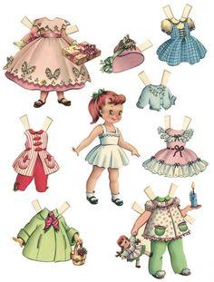 10 Free vintage printable paper dolls