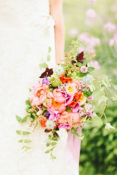 spring wedding bouquet for a whimsical wedding  http://www.weddingchicks.com/2013/10/18/colorful-garden-wedding-ideas-2/