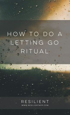 Sometimes we hold onto painful memories and experiences from the past because we just don& know how to let go of them. Here& how to do a letting go ritual so you can complete the past and move on. Eat Better, Meditation, Stress, Past Relationships, Healthy Relationships, Self Development, Personal Development, Best Self, Self Improvement