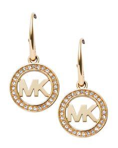 Michael Kors Pavé Logo Earrings | Bloomingdales's