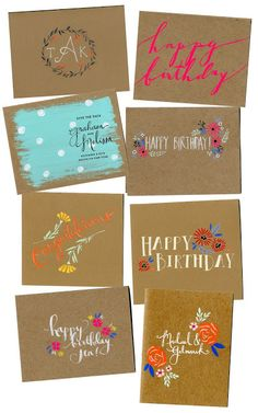 hand painted cards by melissa kelman