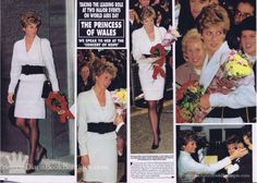 Princess Diana attend the World Aid's Day
