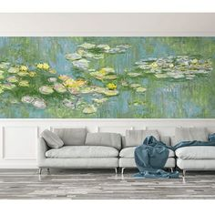 Water Lilies Mural. French Impressionist wallpaper book. By Seabrook. http://lelandswallpaper.com