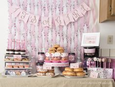 Incredible Donut Baby Shower! See more party ideas at CatchMyParty.com! #partyideas #babyshower