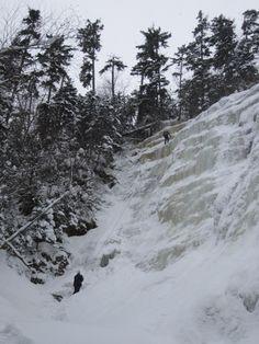 Ice climbers at Arethusa Falls, New Hampshire