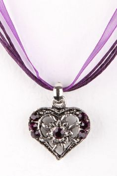 Trachten Necklace Small Heart, violet