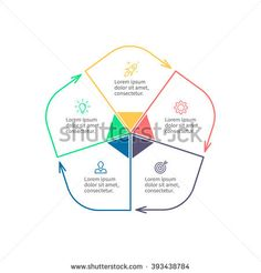 Vector Circle Infographic Template For Diagram Graph