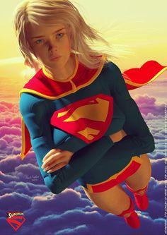 Comic Art Girls, Comics Girls, Supergirl Comic, Athena Goddess, Anime Warrior, Dc Comics Art, Batman And Superman, Dc Heroes, Power Girl