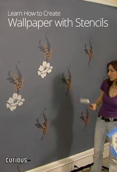 How to Create Wallpaper with Stencils