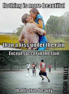 Soccer in the rain! <3 Thank you for sending me this pin Abi Niccum!