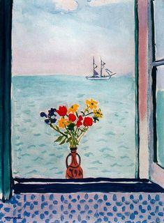 """""""La ventana en La Goulette"""", óleo de Albert Marquet (1875-1947, France)"""