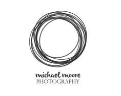 Photography Logo, Photography Watermark : Grey and Black, Modern,Sketch, Handwritten, Scribble Circle, Masculine, Unisex, Simple, Minimal