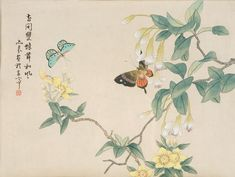 japanese butterfly painting