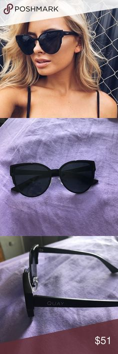 Quay 'Game on' sunnies NWT- just received, never worn- just took these out of it's packaging to take photos. Purchased directly from the quay site along with 3 other different pairs. I wasn't crazy about these in particular, which is why they are now up for sale! Receipt listed to show proof of purchase although I will not be sending it when ordered because all of my info is on it.  Sunglasses come with a soft case. They are also polarized. Just in time for the upcoming warm weather 😎 Get…