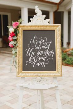 Julie and Andre's Gold Pink Rustic Elegant Wedding Christian Bride, Christian Signs, Wedding Blog, Our Wedding, Wedding Ideas, Bible Verse Signs, I Got Married, Rustic Elegance, Ceremony Decorations