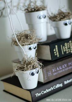 Halloween Crafts for Kids: Monster Pots