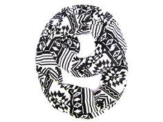 Cross Infinity Scarf Geometric Infinity Scarf Loop by PoePoePurses, $30.00