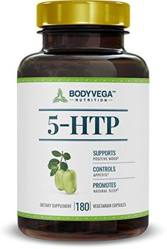 5-HTP by BodyVega, 180 Vegetarian Capsules Per Bottle, 200mg per serving, 100mg per Pill, Extra Strength Supplement -- Find out more about the great product at the image link.