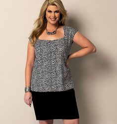 great layering piece for the office. Butterick 5863 Misses'/Women's Top