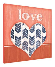 Another great find on #zulily! 'Love' Heart Wall Art by Canvas Kudos #zulilyfinds