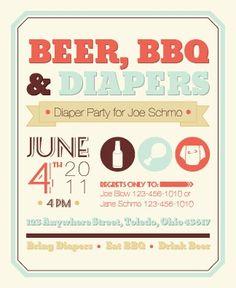 Diaper Party Invite