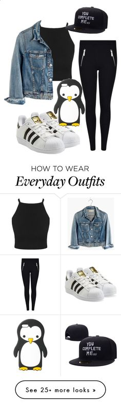 Everyday outfit  by marissa5sos13 on Polyvore featuring Madewell, adidas Originals and MANGO