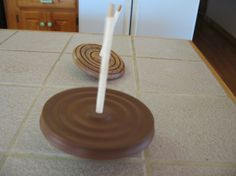 Toy TopWalnut Spinning Toy Top by CoyoteWoodWorks on Etsy, $35.00