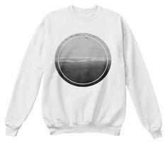 Monochromatic Sea White  Sweatshirt Front