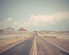 Route 66 Photography, Driving Through the Painted Desert, Nature and Landscape Print, Home and Wall Decor, USA, Travel, Arizona