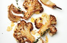 Parmesan-Roasted Cauliflower - Bon Appétit  I think my little artist child would eat this. Would yours?