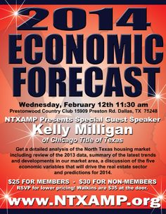 Feb 12th 11:30 a.m. at Prestonwood Country Club in Dallas.  http://www.ntxamp.org/events/upcoming-luncheons