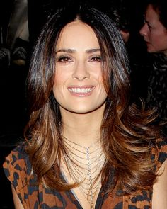 Salma Hayek - Who is Your Celebrity Hair Icon? - Fall Hair Trends 2012 - Hair - InStyle.com