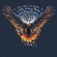 "Buck Wear Men's ""NRA - Gun Wing Eagle"" T-Shirt - 7315 Profile"