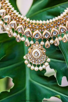 Designer gold necklace from Sunita Shekhawat jewellery collections ~ South India Jewels