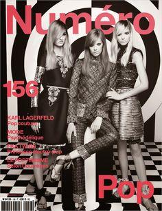 Sasha Luss, Lexi Boling & Maartje Verhoef by Karl Lagerfeld for Numéro #156 September 2014