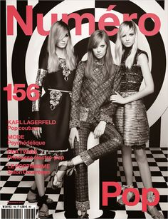 Sasha Luss, Lexi Boling & Maartje Verhoef by Karl Lagerfeld for Numéro #156 September 2014