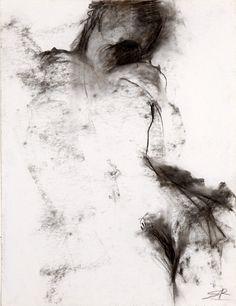 Sophie Sainrapt - Sans Titre - Fusain sur papier