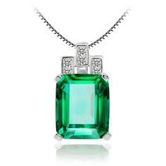 Luxury 6.51ct Nano Russian Emerald Pendant Gift