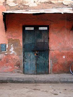 Doors in Marrakech Morocco by valleygirl_tka, via Flickr