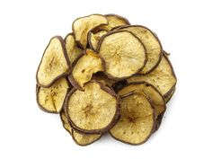 Hey it's me.little less popular cousin of dried apple! I gt cut up into rounds so you could enjoy me anywhere and everywhere! Dried Pears, Dried Fruit, Snack Recipes, Snacks, Sugar Free, Gluten Free, Chips, Apple, Vegan
