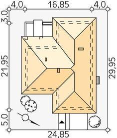 DOM.PL™ - Projekt domu MT Ambrozja 6 CE - DOM MS3-80 - gotowy koszt budowy Modern Bungalow House, Bungalow House Plans, House Layout Plans, House Layouts, Roof Plan, Civil Engineering, Future House, Planer, Floor Plans