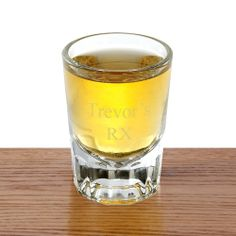 PEGifts.com - Etched Shot Glass, $10.75 (http://www.pegifts.com/Personalized-Shot-Glass-p/gc407jds.htm)