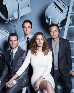 """Cast of """"The Normal Heart"""" : Julia Roberts, Matt Bomer, Jim Parsons, and Mark Ruffalo"""
