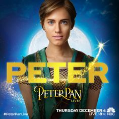 Meet Allison Williams as Peter Pan in #PeterPanLive! Thursday, December 4 at 8/7c on NBC.