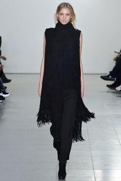 Pringle of Scotland Herfst/Winter 2015-16 Black dress long, velvet H&M skinny and long black silken coat